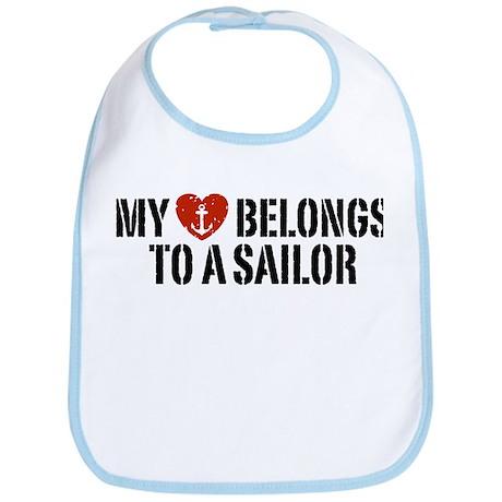 My Heart Belongs To A Sailor Bib