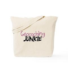 Geocaching Junkie - Pink Tote Bag