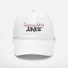 Geocaching Junkie - Pink Baseball Baseball Cap