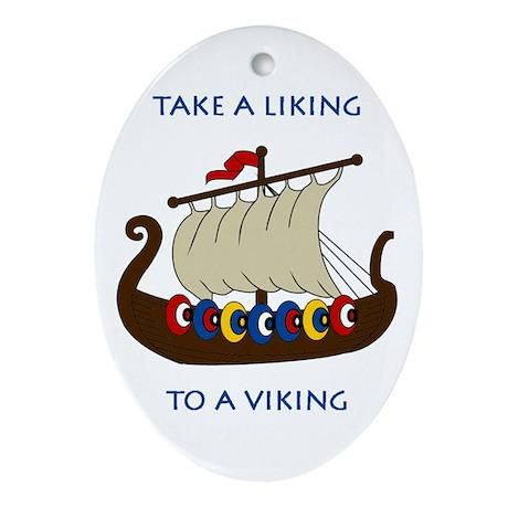 Liking Vikings Ornament (Oval)