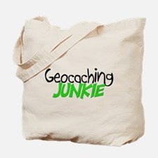 Geocaching Junkie - Green Tote Bag