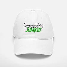 Geocaching Junkie - Green Baseball Baseball Cap