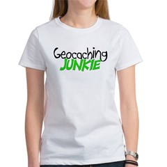 Geocaching Junkie - Green Women's T-Shirt
