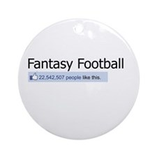 Like Fantasy Football Ornament (Round)