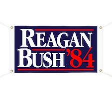Reagan Bush '84 Campaign Banner