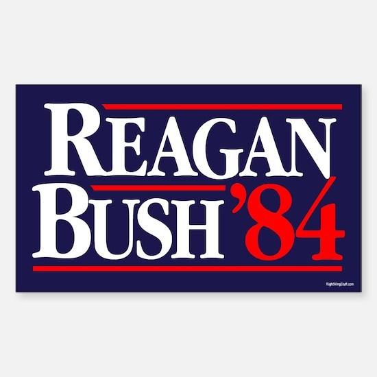 Reagan Bush '84 Campaign Sticker (Rectangle)