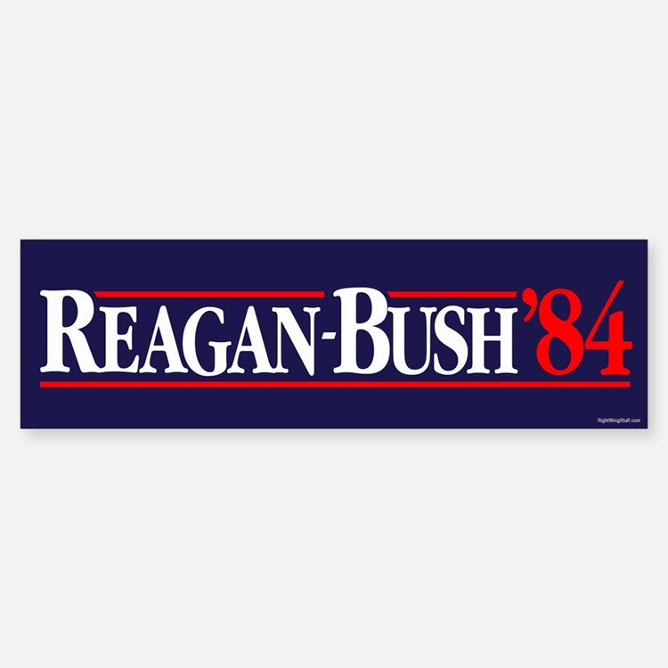 Reagan Bush '84 Campaign Bumper Bumper Sticker