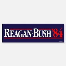 Reagan Bush '84 Campaign Car Car Sticker