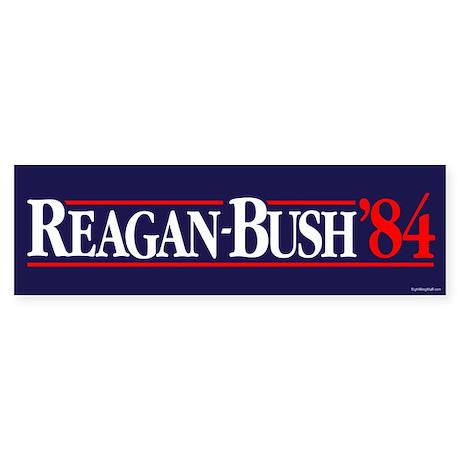 Reagan Bush '84 Campaign Sticker (Bumper)