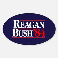 Reagan Bush '84 Campaign Sticker (Oval)