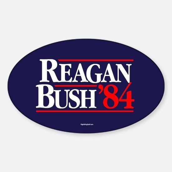 Reagan Bush '84 Campaign Sticker (Oval)