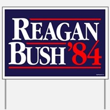 Reagan Bush '84 Campaign Yard Sign