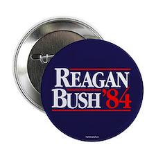 """Reagan Bush '84 Campaign 2.25"""" Button (10 pack)"""