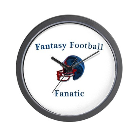 Fantasy Football Fanatic Wall Clock