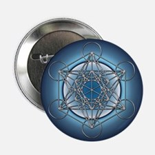 "Metatrons Cube 2.25"" Button"