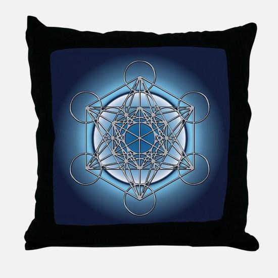 Metatrons Cube Throw Pillow