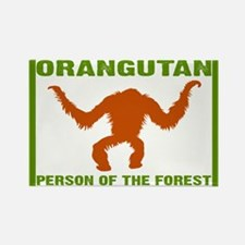 Person of the Forest Rectangle Magnet
