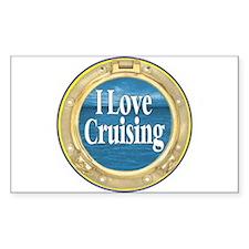 I Love Cruising Sticker (Rectangular)