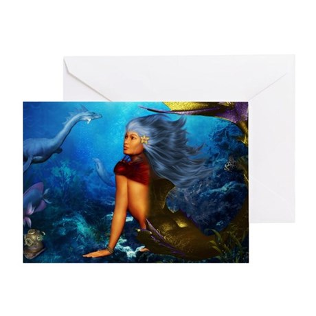 Hawaiian Mermaid Greeting Card