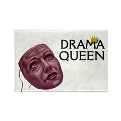 Drama Queen Rectangle Magnet