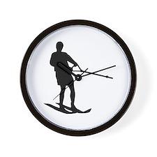 Water skiing Wall Clock