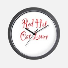 Red Hot Car Lover Wall Clock