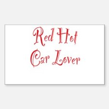 Red Hot Car Lover Decal