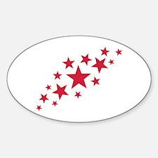Stars sky Sticker (Oval)