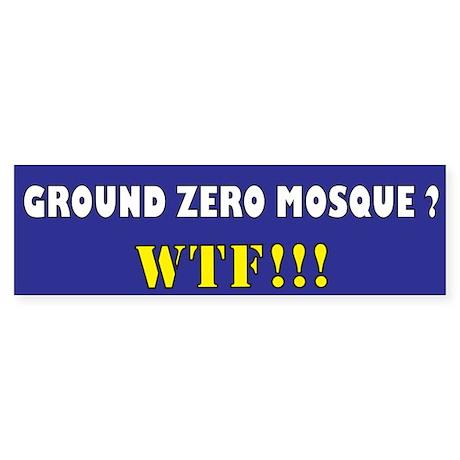 No Mosque Ground Zero Sticker (Bumper 50 pk)