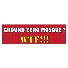 No Mosque Ground Zero Bumper Sticker