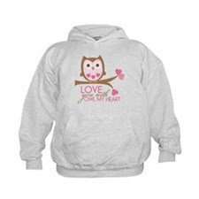 Love you with owl my heart Hoodie