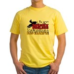 Not Totally Useless - Snowmobiling Yellow T-Shirt