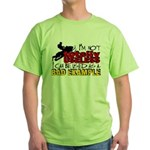 Not Totally Useless - Snowmobiling Green T-Shirt