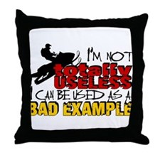 Not Totally Useless - Snowmobiling Throw Pillow