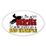 Not Totally Useless - Snowmobiling Sticker (Oval)