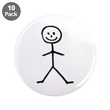 """Stickman 3.5"""" Button (10 pack)"""