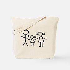 Stickman family Tote Bag