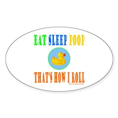 EAT SLEEP POOP Decal