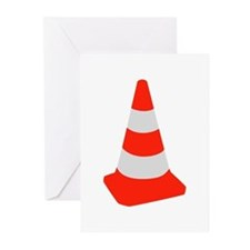 Traffic cone Greeting Cards (Pk of 20)