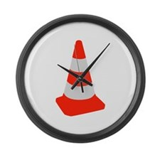 Traffic cone Large Wall Clock