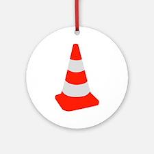 Traffic cone Ornament (Round)