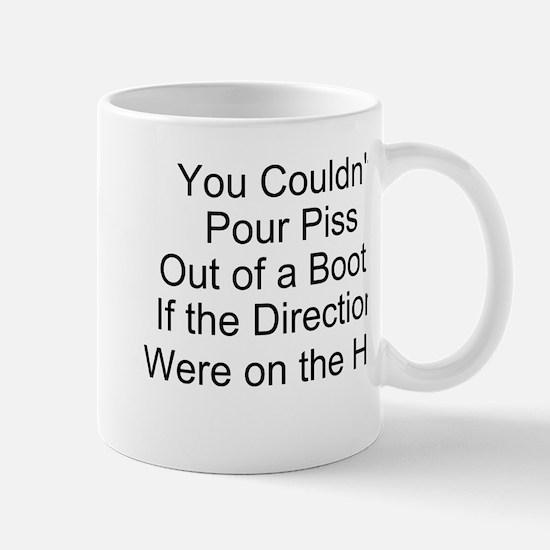 Idiots and Boots Mug