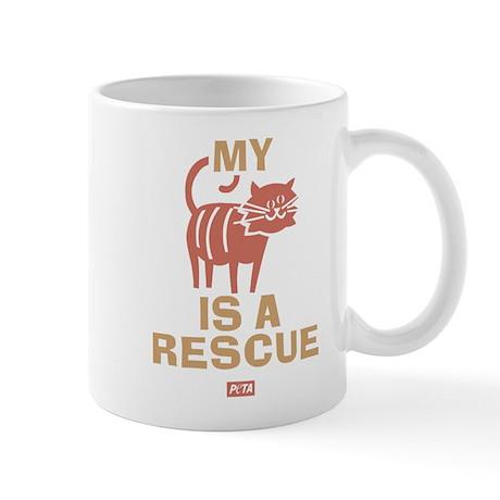 My Cat Is a Rescue Mug