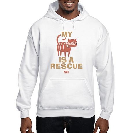 My Cat Is a Rescue Hooded Sweatshirt