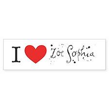 Zoe Sophia Bumper Bumper Sticker