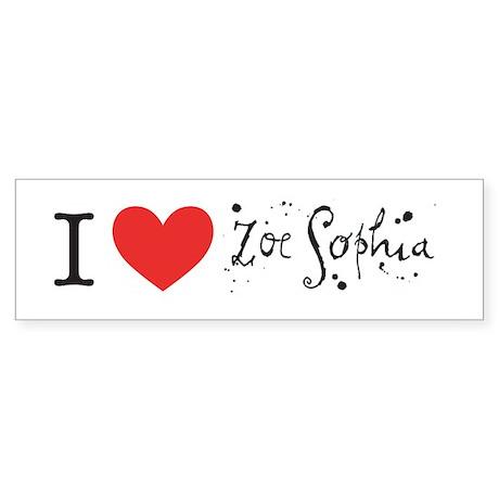 Zoe Sophia Bumper Sticker