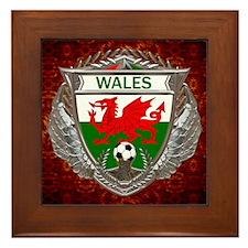 Wales Soccer Framed Tile