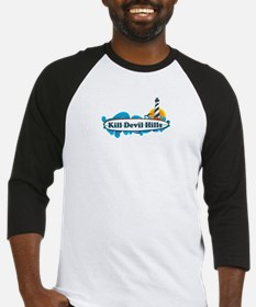 Kill Devil Hills NC - Surf Design Baseball Jersey