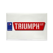 Official Dowco Triumph Street Rectangle Magnet