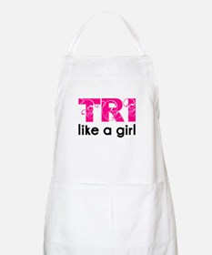 tri like a girl Apron